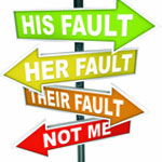 his fault, her fault road sign