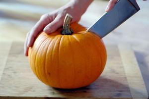 carving pumpkin